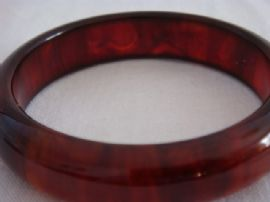 Bakelite Bangle - 1930s - 1940s Tortoiseshell or Root Beer Colour (Sold)